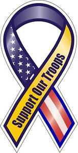 Support-Our-American-Troops-Flag-Ribbon-Decal-Sticker