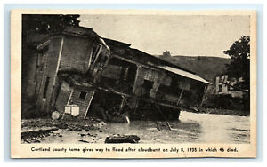 Postcard-1935-Flood-Cortland-County-NY-home-destroyed-G38