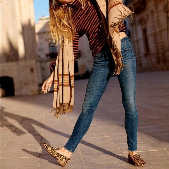 MADEWELL Paloma Wash Denim Raw Hem 9  High Rise Skinny Jeans sz 26