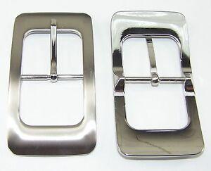 Lederbearbeitung 1 Schließe Gürtelschnalle Schnalle 4,0 Cm Silber 00.093/681 Herren-accessoires