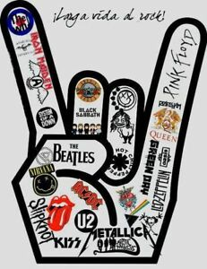 METAL-V-STICKER-Metallica-SlipKnot-Iron-Maiden-Beatles-Pink-Floyd-Kiss-U2-Who