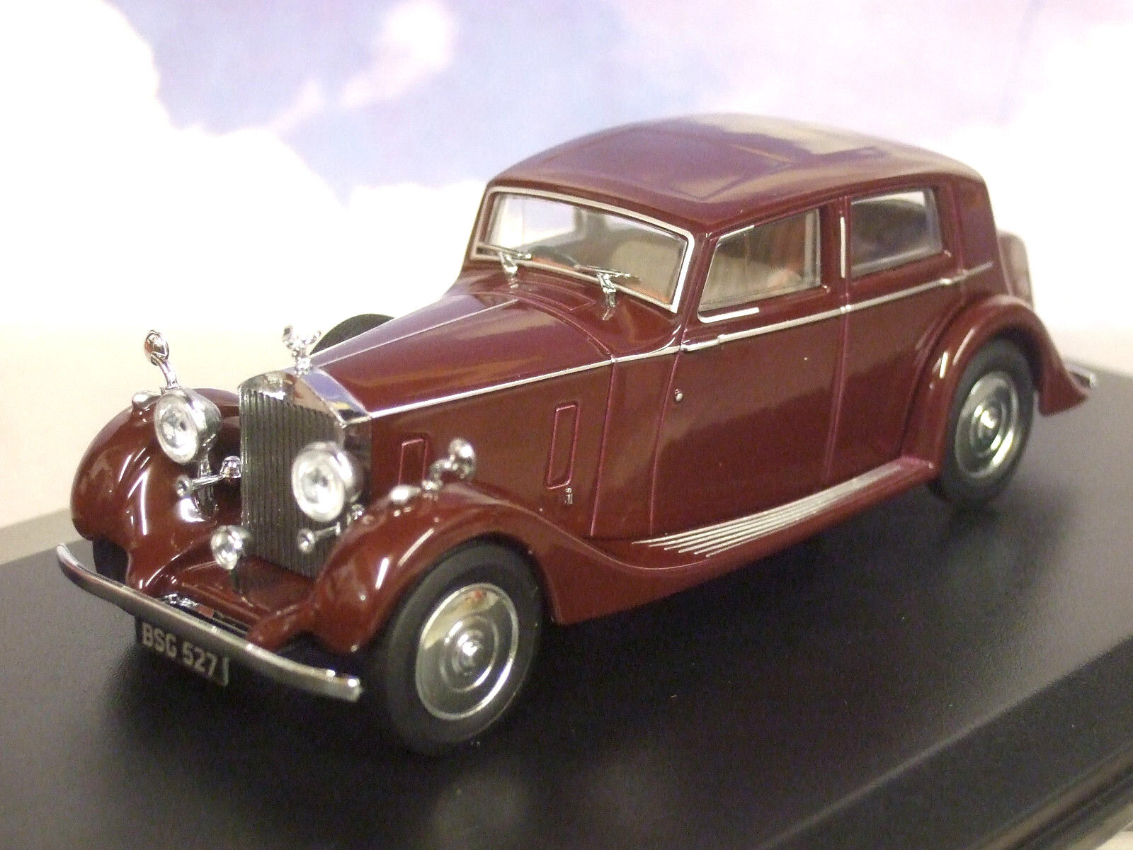 OXFORD 1 43 1936-1938 ROLLS ROYCE 25 30 THRUPP & MABERLY BURGUNDY RED 43R25001