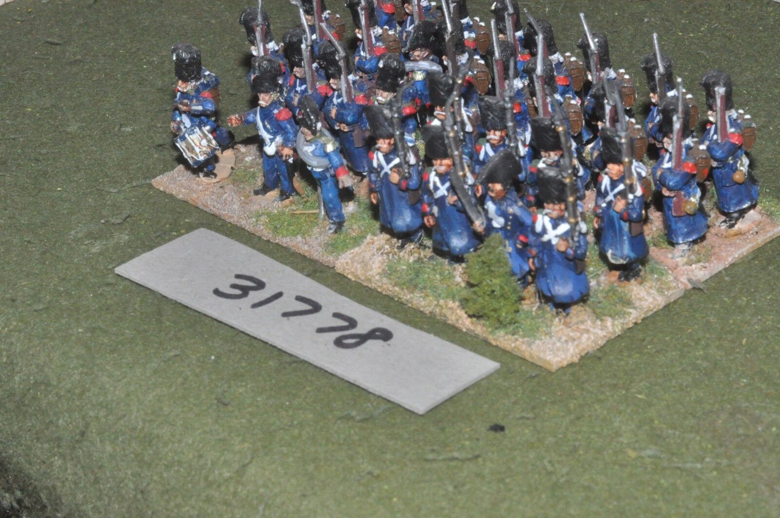 25mm napoleonic   french - guard grenadiers 31 figures - inf (31778)