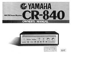 yamaha cr 840 receiver owners manual ebay rh ebay com yamaha receiver rx-v661 owner's manual yamaha receiver owner's manual free download