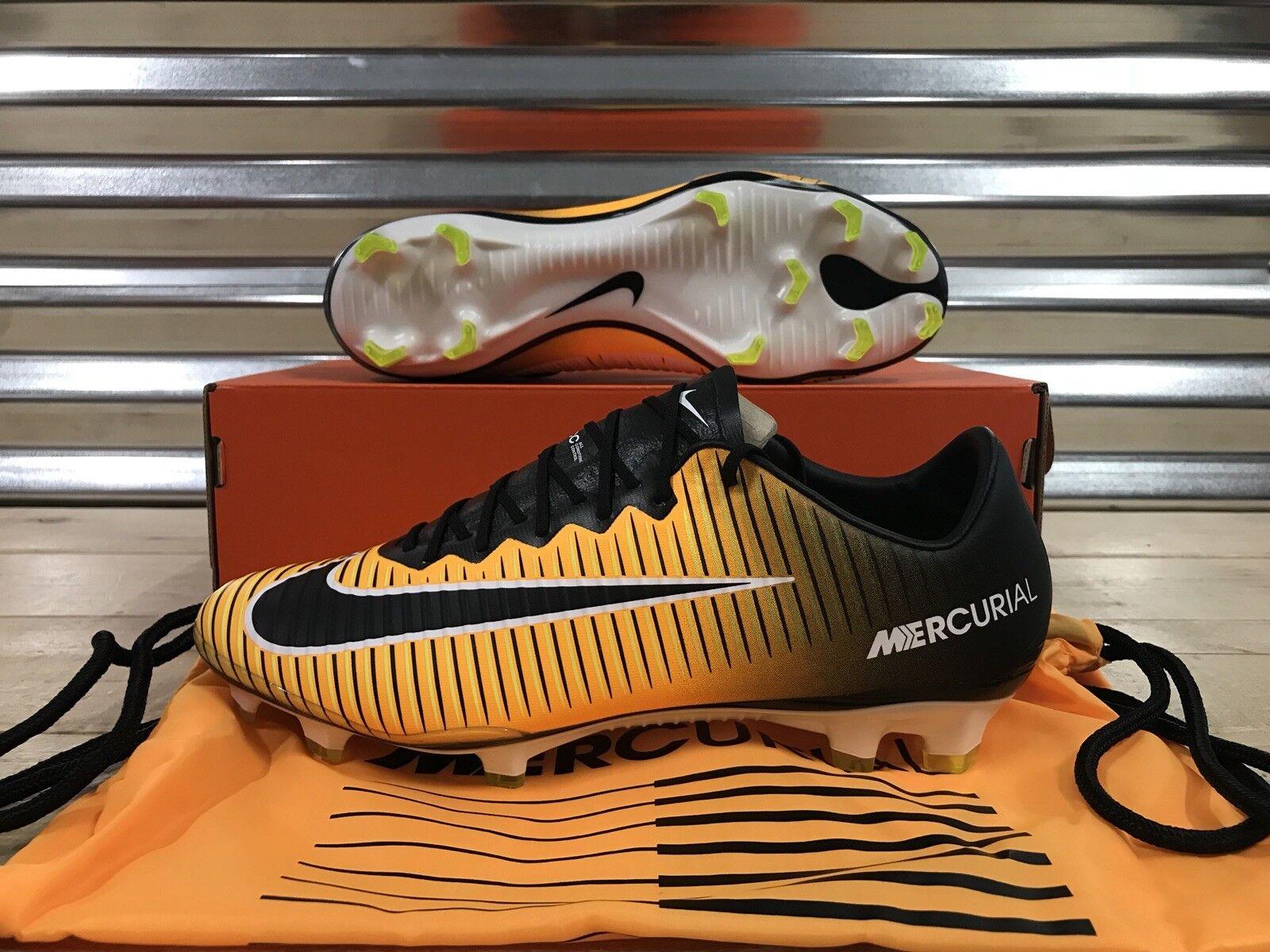 Nike volubile vapore xi 11 fg fg fg scarpini da calcio laser arancione nero sz (831958-801) ffa4a5