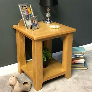 Details About Oak End Table Solid Wood Lamp Table Living Room Side Table Harvard