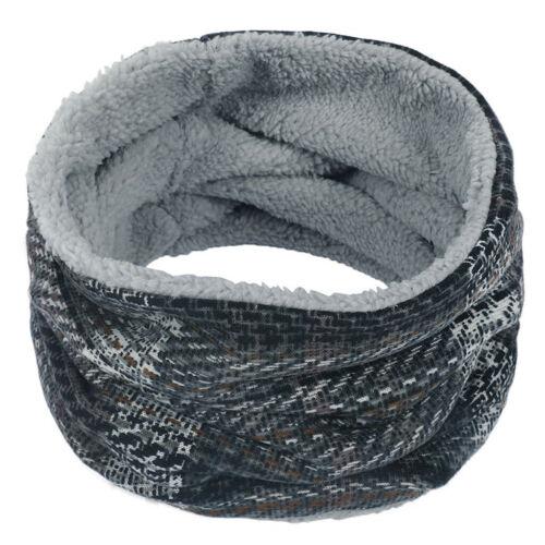 Unisex Women Men MultiColor Stripe Neck Warmer Fleece Knitt Scarf Scarves Shawl