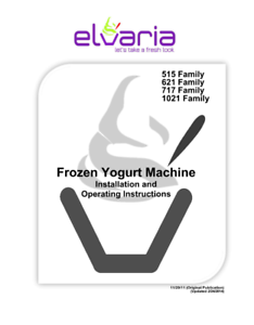Digital Read Only Version Elvaria Soft Serve Machine Users Manual