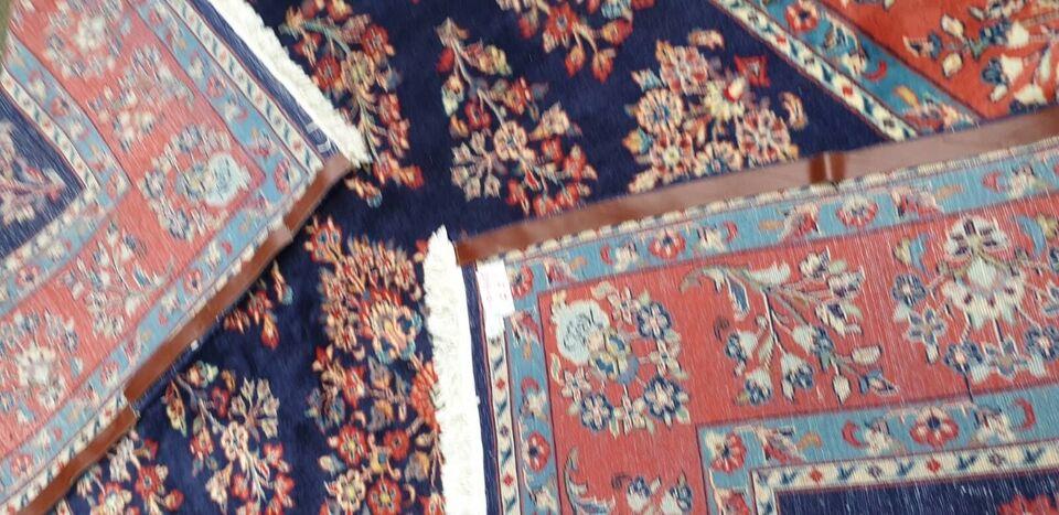 Gulvtæppe, ægte tæppe, Uld på bomuld bund