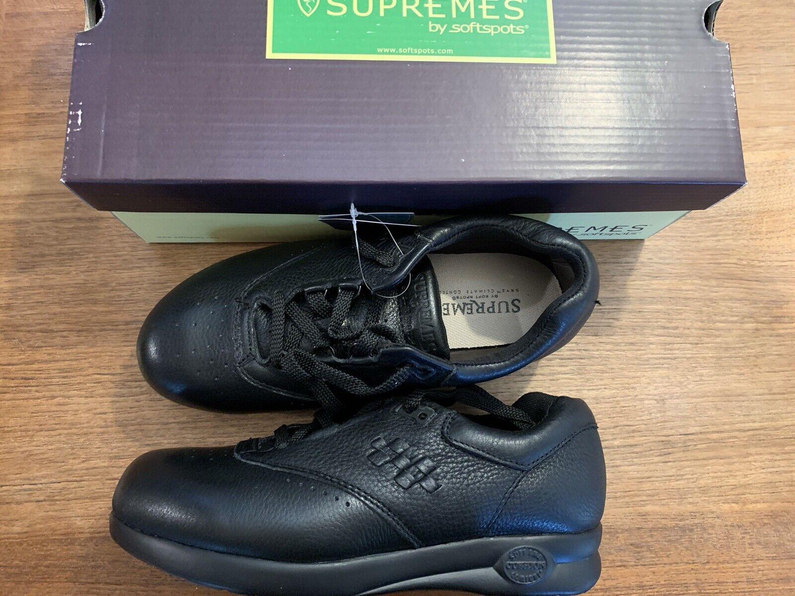 Supremes by Softspots Women's Marathon 122401 Black Anti-Slip US-7 EUR-38 NEW!