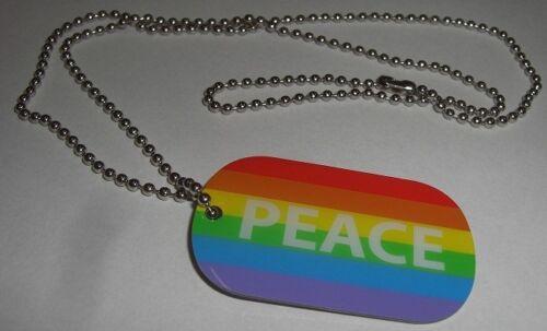 Dog Tag Peace arco iris marca de detección perros marca cadena bandera bandera 30x50