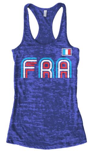 France Athletic Retro Series Women/'s Burnout Racerback Tank Top Soccer