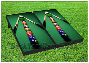 VINYL WRAPS Cornhole Boards DECALS Pool Table Game BagToss Game - Pool table wraps