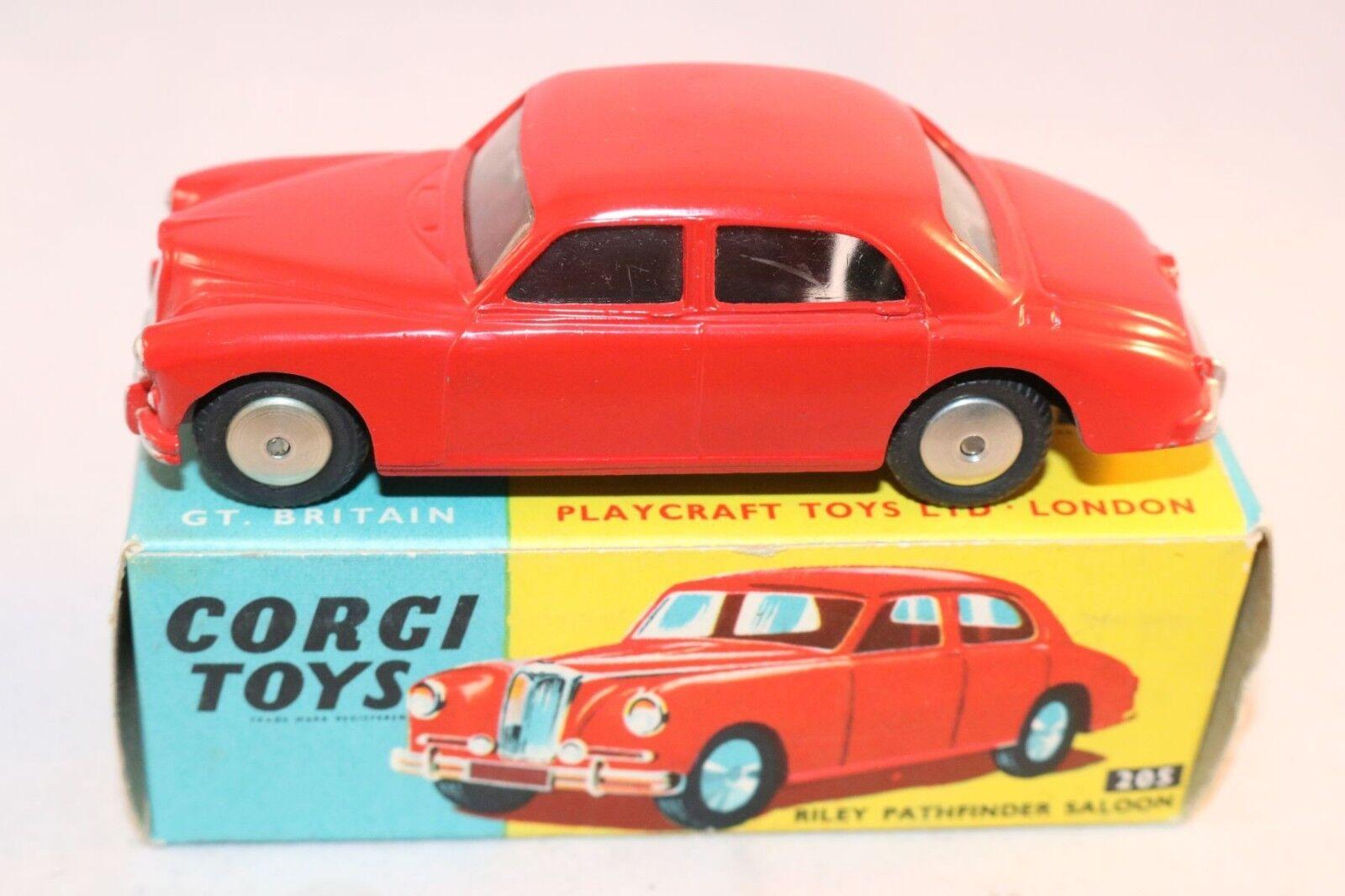 Corgi Toys 205 Riley Pathfinder very near mint in a super box a beauty