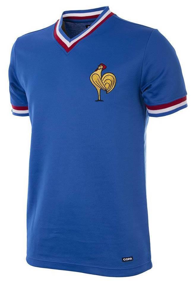 Copa Frankreich Frankreich Frankreich Retro Trikot 1971 blau NEU 94182 3ad2ee