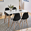 thumbnail 6 - Dining-Table-and-Chairs-4-6-Set-Wooden-legs-Retro-dining-Room-Chair-Grey-Kitchen