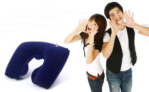 Fashion Inflatable U Shaped Neck Rest Travel Soft Pillow Sleeping Air Cushion