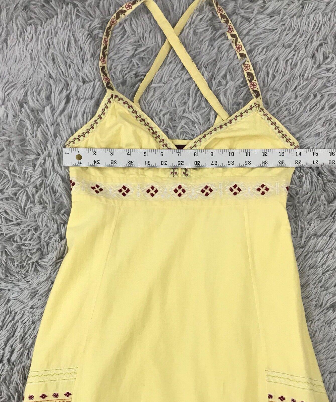 KENZO Size 36 Embroidered Flower Sun Sun Sun Dress Yellow 56ce9e