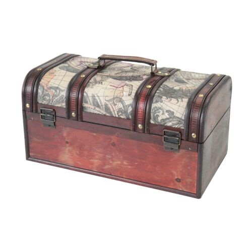HMF coffre à trésor Trésor Boîte Château caisse en bois Coffre en bois Boîte de rangement Cuba