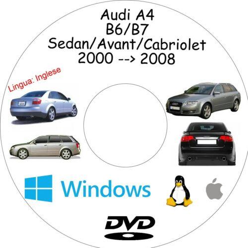 Manuale Officina AUDI A4 - Assistenza Riparazione e Manutenzione B6//B7