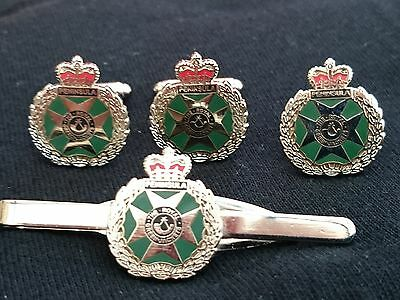 Royal Green Jackets RGJ Regimental Military Tie Clip Slide