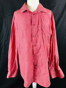 Seed-Work-XL-Ladies-red-white-striped-collared-long-sleeve-button-front-blouse