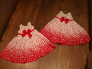 Baby Girls Twin White Red Polka Dot Dresses 12  18 Months Summer Smart - <span itemprop=availableAtOrFrom>Colchester, United Kingdom</span> - Baby Girls Twin White Red Polka Dot Dresses 12  18 Months Summer Smart - Colchester, United Kingdom