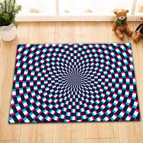 "Colorful Hypnotic Whirlpool Bath Mat Bathroom Rug Non-Slip Decor Carpet 24x16/"""