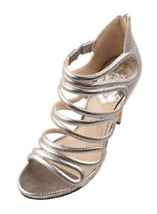 Vince-Camuto-Fortuner-Women-039-s-Silver-Leather-Open-Toe-Evening-Sandals