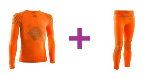 Sunset Orange//Anthracite junior thermoactive set138-143 X-BIONIC Invent 4.0