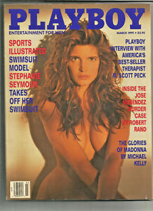 Playboy-March-1991-Stephanie-Seymour-Sports-Illustrated-Swimsuit-Model-more