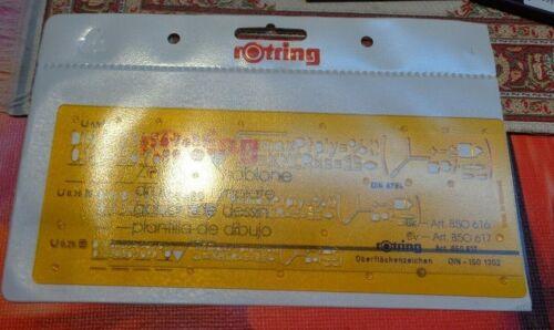 Rotring Zeichenschablone Oberflächenzeichen  Art.-Nr 850617