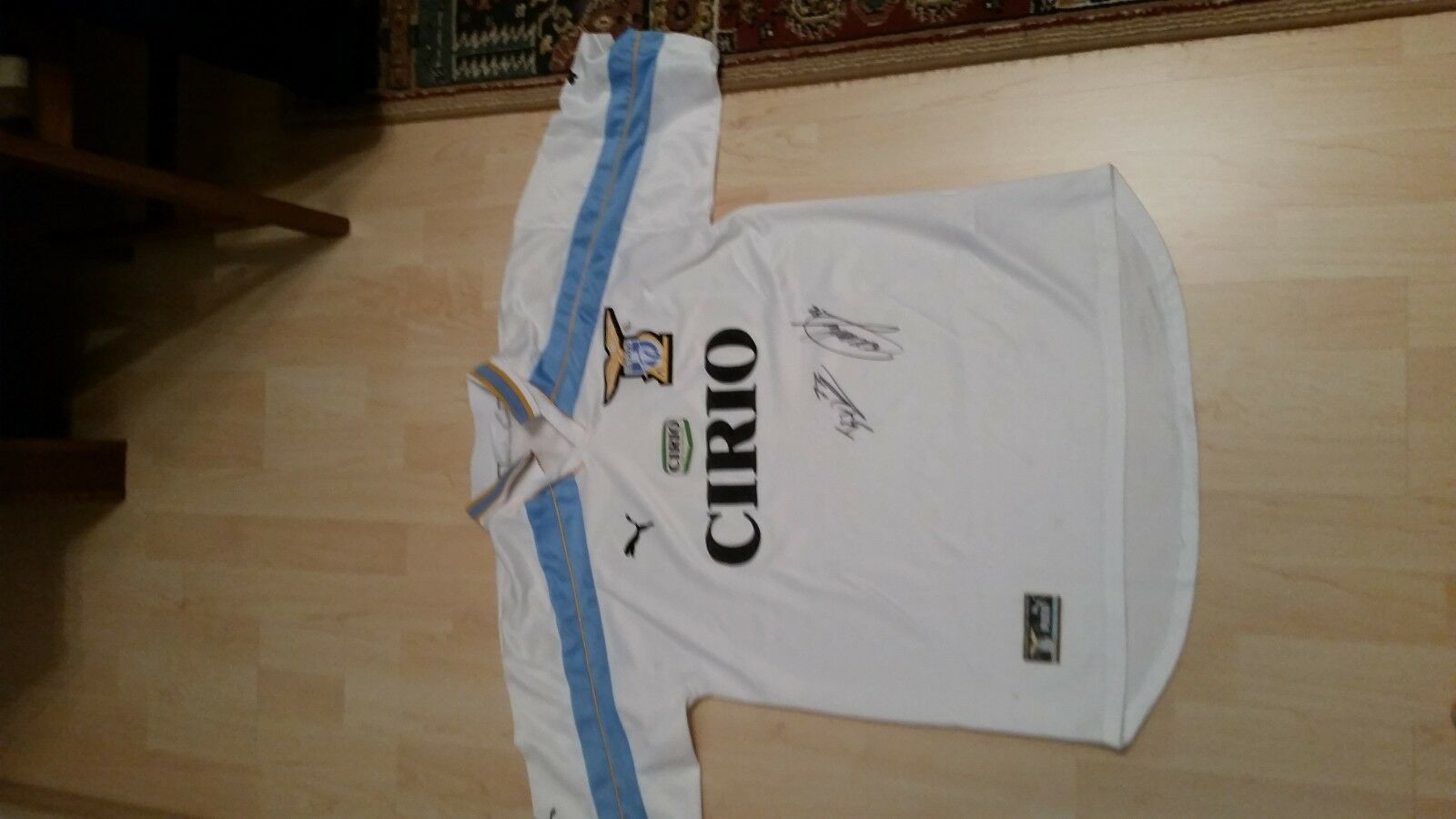 Lazio Jersey 100 Years Years 100 Sponsor Cirio signed by Marusic+Cataldi 429c1b