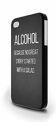 Alcohol Salad Funny Slogan Cover Case for iPhone 4/4s 5/5s 5c 6 6 Plus