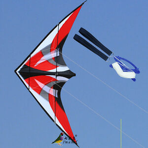 NEW-1-8m-70-In-Stunt-Triangle-Delta-Kite-Outdoor-Fun-Sports-Dual-line-Surfing