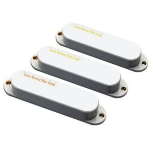 Lace Sensor Hot Gold with Hot Bridge Pickup set for Strat, White 21153-01
