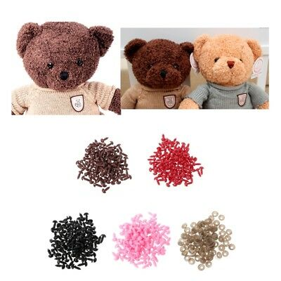 Noses for Doll Plastic Black Teddy Bear Stuffed Toys Animal Safety 100Pcs Nobby