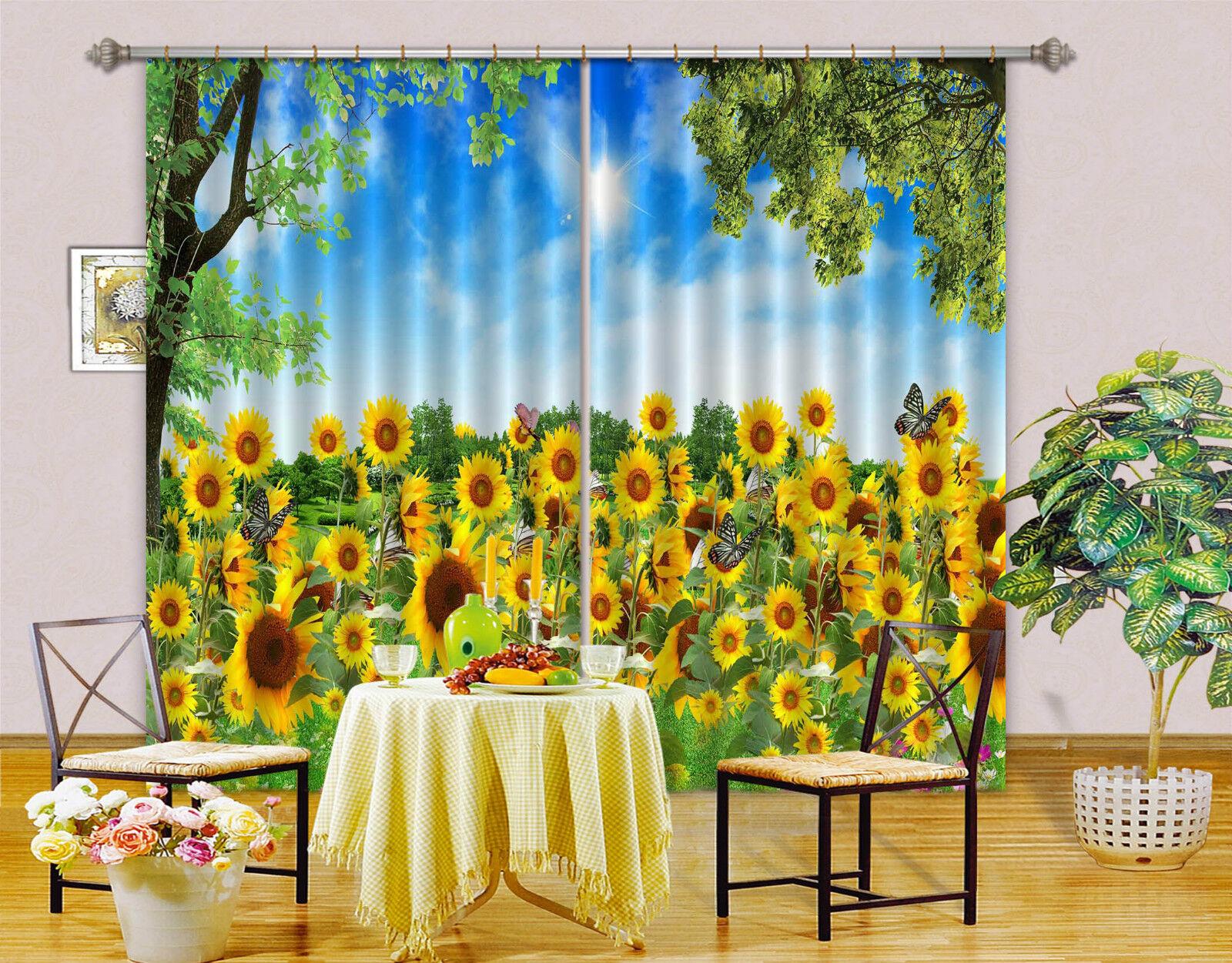 3d girasol 6945 bloqueo foto cortina cortina de impresión sustancia cortinas de ventana