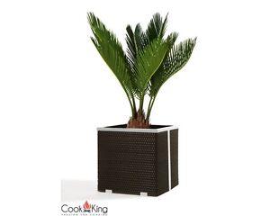 rattan blumenk bel 46x46cm blumentopf pflanzkasten bertopf topf neu ovp ebay. Black Bedroom Furniture Sets. Home Design Ideas