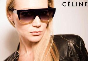 5cbe3c96a93 NEW Genuine CELINE Shadow Dark Green Blonde Havana Sunglasses CL ...