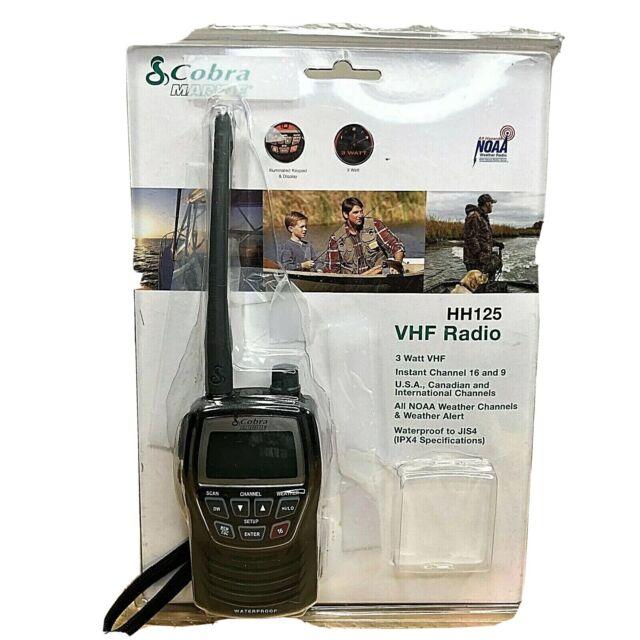 Cobra MR HH125 Handheld VHF Marine Radio NOAA Weather Boat 3 Watt MRHH125 NEW