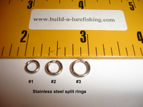 Stainless steel and brass  Lots of 25 Split rings