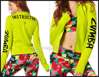 Zumba Instructor Zin all Meshed Up Zip-up Jacket Cardigan Thumbholencuff S M L