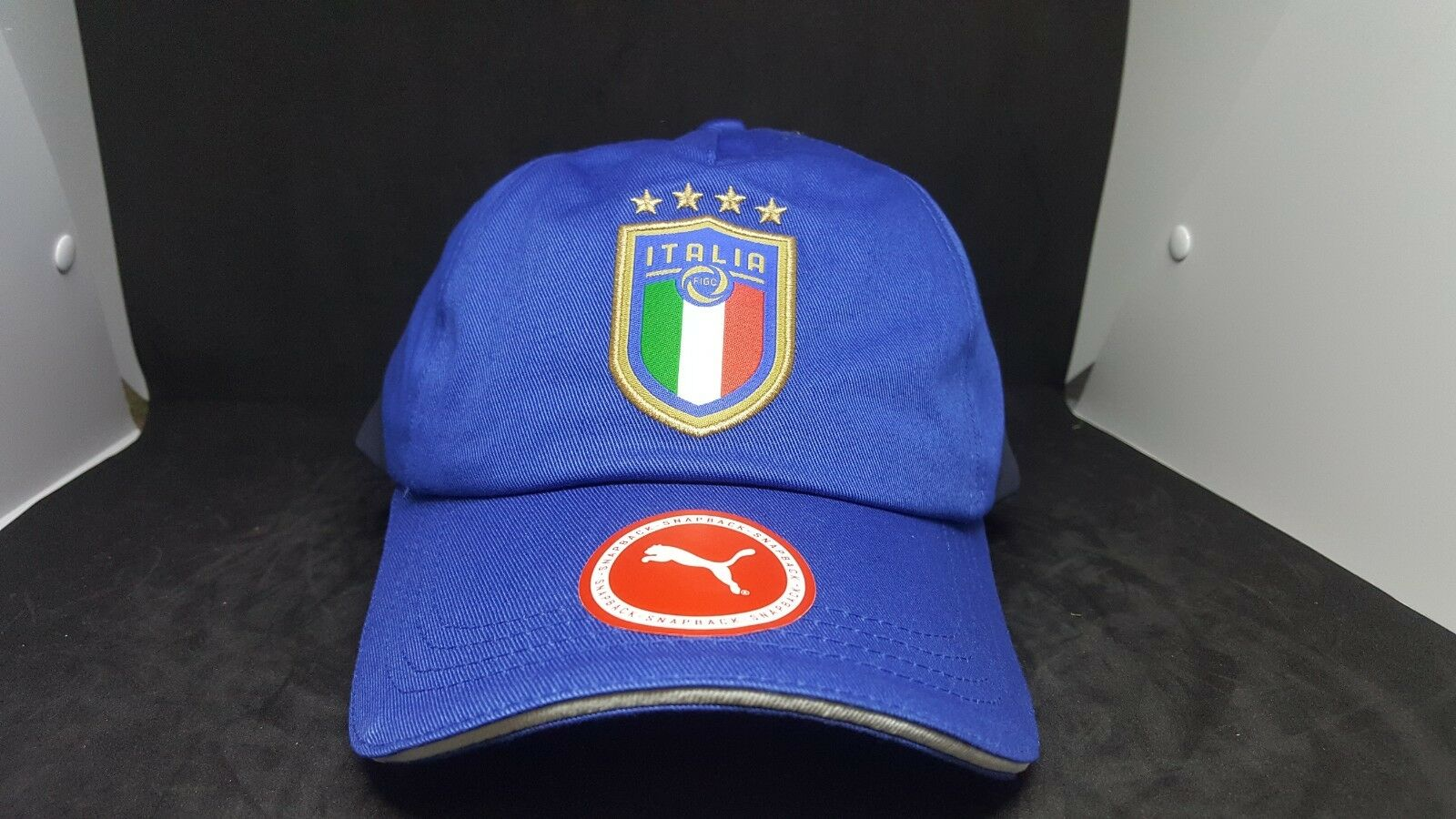 aae9bd1ae68 ... coupon code for puma blue italia figc men embroidered football base cap  licensed embroidered men snap