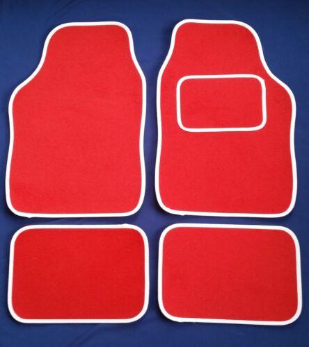 Tapis de voiture rouge avec contour blanc Pour LEXUS IS200 IS220 IS250 CT200H GS300
