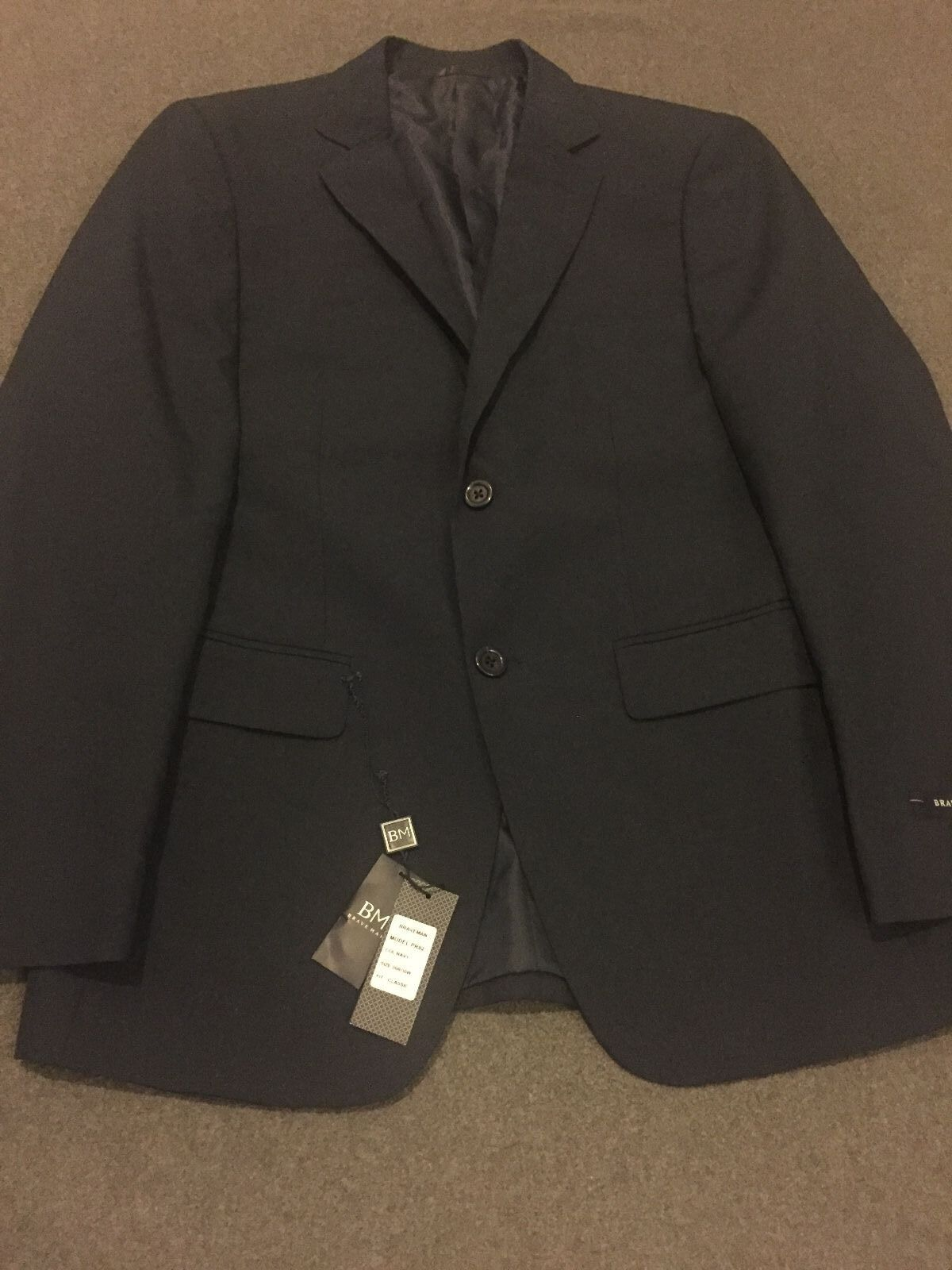 b2e8d5b6a9c NEW Braveman 2-Piece Classic Fit Suit- Navy- Size 36Rx30W ...