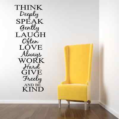 THINK DEEPLY WALL ART STICKER QUOTE Wall Decals & Stickers