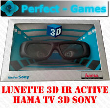 Lunettes shutter glasses HAMA 3D IR active pour TV télévision 3D Sony