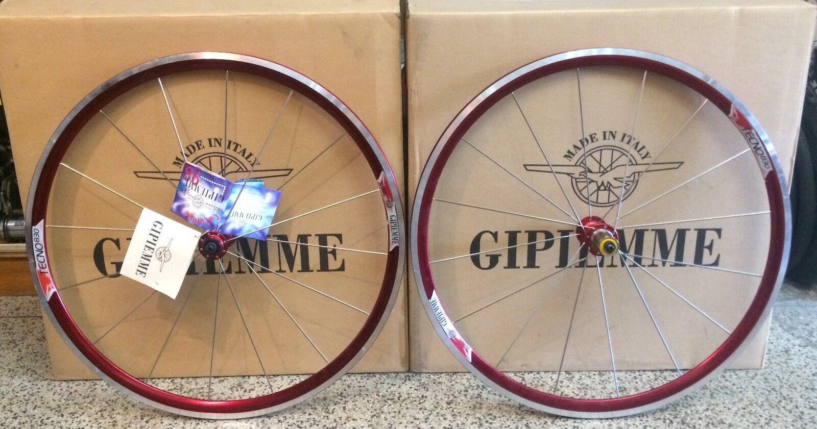 GIPIEMME TECNO 830 WHEELSET  - RED - 700c - 16 holes - NOS NIB  hottest new styles