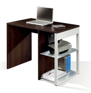 Mesa multimedia 100cm wengué y cristal despacho, oficina, escritorio ...